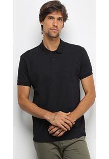 Camisa Polo Triton Básica Masculina - Masculino-Preto