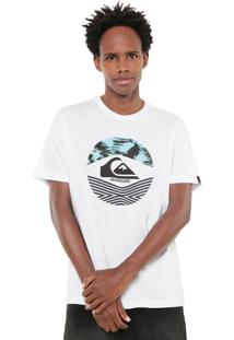 Camisa Quiksilver Stomped On Branca