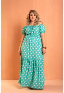 Vestido Ciganinha Ayla Tiffany Poá Plus Size