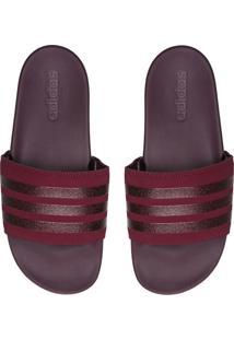 Chinelo Slide Adidas Performance Adilette Comfort Vinho