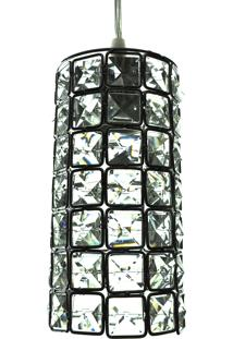 Lustre Pendente Diamante Cd3235/1 Transparente 40W Bivolt