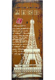 Quadro Kasa Ideia De Madeira Torre Eiffel 80X30Cm