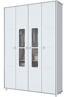 Guarda Roupa Infantil Com 4 Portas De Bater Aquarela-Henn - Branco