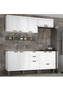 Cozinha Completa 5 Peã§As Americana Multimã³Veis 5915 Branco/Grafite - Branco/Incolor - Dafiti