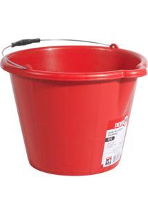Balde Plástico Para Concreto Extraforte 12 Litros Vermelho - Nove54