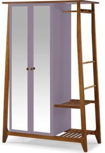 Armario Multiuso Stoka 2 Portas Lilas Estrutura Amendoa 169Cm - 60967 - Sun House