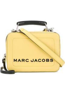 Marc Jacobs Bolsa The Mini Box - Amarelo
