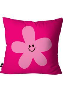 Capa De Almofada Pump Up Avulsa Infantil Pink Flor 45X45Cm