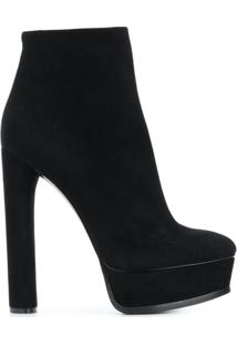 Casadei Ankle Boot Plataforma - Black