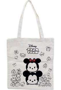 Bolsa Minas De Presentes Mickey & Minnietsum Tsum Bege