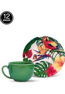 Conjunto 12Pçs Xícaras De Chá Porto Brasil Coup Paradiso Branco