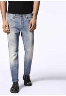 Calça Jeans Diesel Thommer Masculina - Masculino-Azul