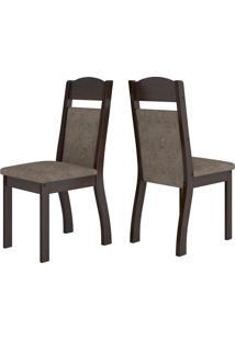 Cadeiras Kit 2 Cadeiras Selena 14113 Ameixa/Malta - Viero Móveis