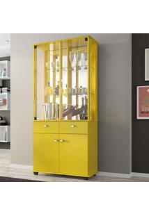 Cristaleira Verona Amarelo - Bechara Móveis