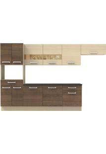 Cozinha Compacta Rubi Com Armário Balcão 11 Portas 2 Gavetas Madesa
