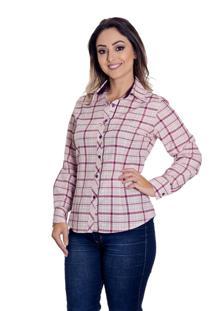 Camisa Pimenta Rosada Tessa Xadrez Vinho