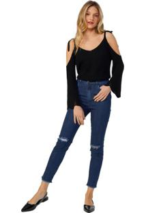 Calça Jeans Skinny Rasgo