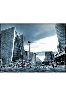 Jogo Americano Decorativo, Criativo E Descolado | Avenida Paulista Azul Em São Paulo - Tamanho 30 X 40 Cm