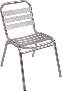 Cadeira De Alumínio Fixa Mor 9108 Cinza Até 90Kg