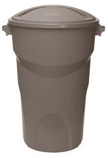 Lixeira Redonda 10 Litros Com Tampa Cinza Paramount Plásticos
