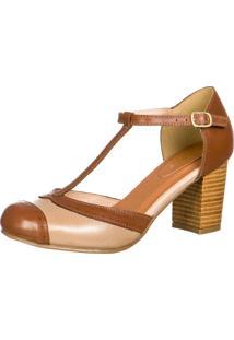 21672a332d Sapato Boneca Marrom feminino