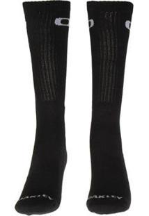Meia Oakley Crew Sock Masculino - Masculino-Preto