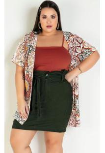 Kimono Oversized Plus Size Arabescos