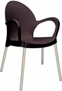 Cadeira Tramontina 92068009 Grace Com Braços Preta
