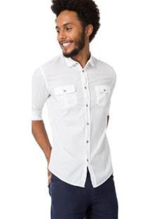 Camisa Reserva Regular Lisa Leve - Masculino-Branco