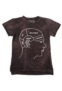 Camiseta Longline Stoned Estonada Head Vinho