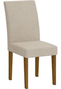 Cadeira Grécia 2 Peças - Imbuia - Veludo Creme