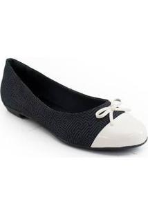 Sapatilha Cap Toe Verniz Sapato Show El813