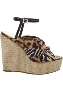 Sandália Anabela Natural Animal Print | Schutz
