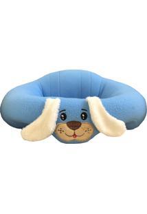 Puff Asas De Anjo Cachorrinho Azul Menino