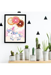 Quadro Decorativo Infantil Baby Unicorn Preto - 20X30Cm - Multicolorido - Dafiti