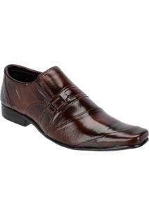 Sapato Social Masculino Couro Conforto Detalhes Leoppé - Masculino-Marrom
