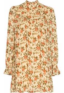 Reformation Vestido Jourdan Com Estampa Floral - Amarelo