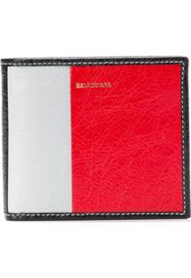 Balenciaga Carteira Quadrada De Couro - Vermelho