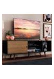 Rack Madesa Dubai Para Tv Até 65 Polegadas Com Pés - Preto/Rustic/Rustic