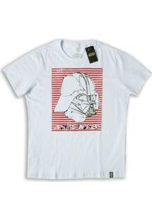 Camiseta Star Wars Vader Stripes - Feminino-Branco