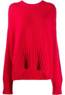 P.A.R.O.S.H. Suéter Oversized - Vermelho