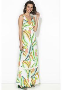 Vestido Cropped Floresta Tropical Estampado