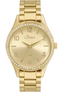 Relógio Condor Feminino Analógico Dourado Co2035Kuy4D - Kanui