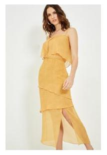 Vestido Seda Alcinha Ange Amarelo