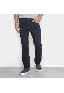 Calça Jeans Reta Replay Lavagem Clássica Masculina - Masculino