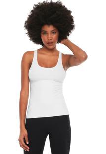 Regata Calvin Klein Underwear Sem Costura Branca