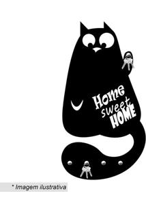 Porta Chaves Home Sweet Home- Preto- 37X20Cm- Wewevans