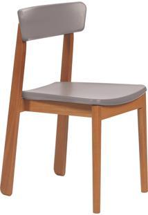 Cadeira Com Estofado Tramontina 14120042 Kyoto Poliuretano Bege