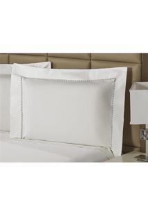 Fronha Percal 230 Fios 50X70Cm Premium Clean Branca Plumasul