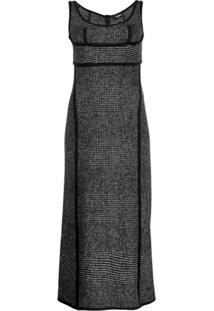 Dsquared2 Scoop Neck Midi Dress - Preto